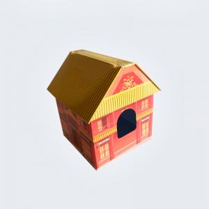Caja latón forma de casa