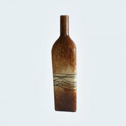Botella Vidrio Soplado Caramel