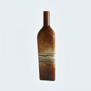 Botella Caramel de Vidrio Soplado