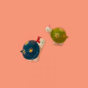 Set de 2 miniaturas tortuguitas
