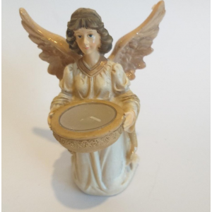 Angel portavelas con tunica